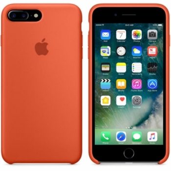 Funda de Silicona para iPhone 8Plus Naranja